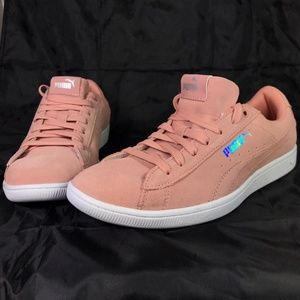 7e74ccc546ec Puma Shoes - Puma Vikky AOS Metallic Sneakers Peach Beige Soft
